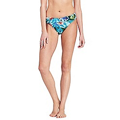 Lands' End - Multi mid waist wrap bikini bottoms