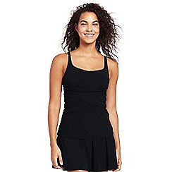 Lands' End - Black shape and enhance tankini top