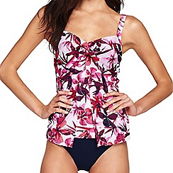 Lands' End - Multi shape and enhance split front orchid tankini top