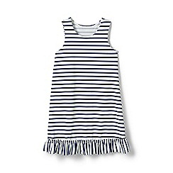 Lands' End - Blue girls' ruffle hem patterned swim cover-up