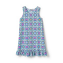Lands' End - Multi girls' ruffle hem patterned swim cover-up
