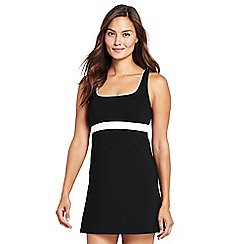 Lands' End - Black beach living colourblock sweetheart dresskini top