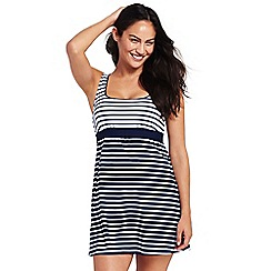 Lands' End - Multi beach living sweetheart stripe colourblock dresskini top