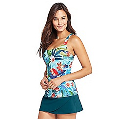 Lands' End - Multi beach living square neck paradise floral tankini top
