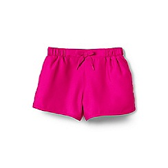 Lands' End - Girls' pink  smart swim woven swim shorts