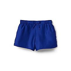 Lands' End - Girls' blue  smart swim woven swim shorts