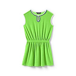 Lands' End - Girls' green  sleeveless terry cover-up
