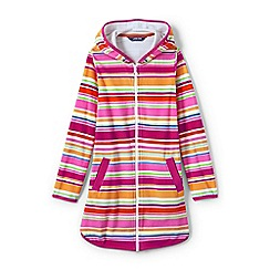 Lands' End - Girls' multicoloured  terry printed hooded cover-up