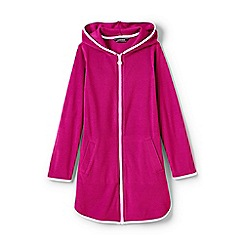 Lands' End - Girls' pink  terry hooded cover-up