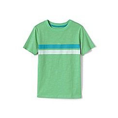 Lands' End - Boys' Green  chest stripe t-shirt