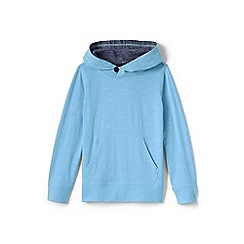 Lands' End - Blue boys' slub jersey pullover hoodie