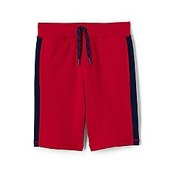 Lands' End - Red boys' racing stripe french terry shorts