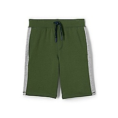 Lands' End - Green boys' racing stripe french terry shorts