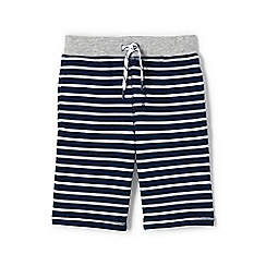 Lands' End - Blue boys' striped french terry shorts