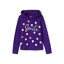 Lands' End - Purple girls' graphic super-t hoodie