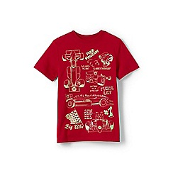 Lands' End - Boys' Red  glow-in-the-dark graphic t-shirt