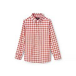 Lands' End - Boys' Orange  checked shirt
