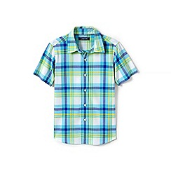 Lands' End - Multi boys' checked short sleeve shirt