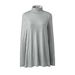 Quality Shopping Online Sale Online Womens Regular Cotton/Modal Roll Neck - 10 -12 - Green Lands End Cost For Sale Collections Cheap Online yVxgNdX