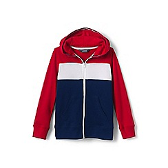Lands' End - Red boys' colour block hoodie