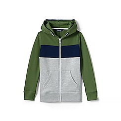 Lands' End - Green boys' colour block hoodie