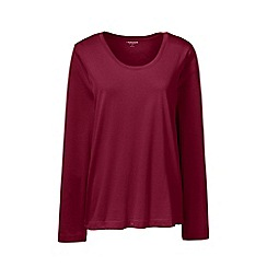 Lands' End - Red scoop neck supima t-shirt