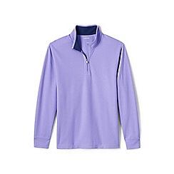 Lands' End - Purple performance pique half-zip top