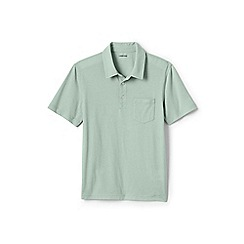 Lands' End - Green washed jersey polo shirt