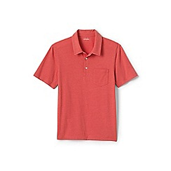 Lands' End - Pink washed jersey polo shirt
