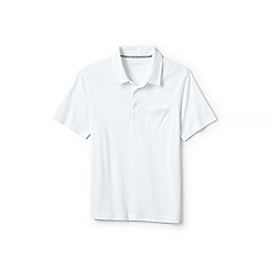 Lands' End - White washed jersey polo shirt
