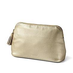 Lands' End - Gold large cosmetics bag