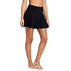 Lands' End - Black shape and enhance swimming skirt with tummy control