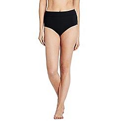 Lands' End - Black shape and enhance high waist bikini bottoms