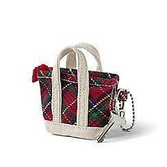 Lands' End - Multi tote bag keychain