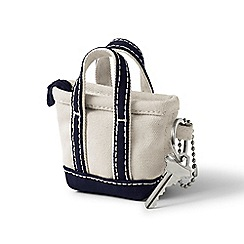 Lands' End - White tote bag keychain