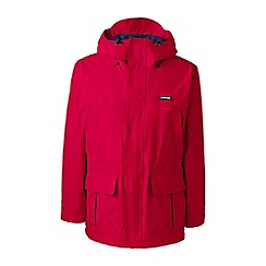 Lands' End - Red squall lightweight waterproof parka