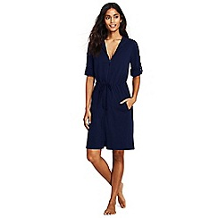 Lands' End - Blue hooded roll sleeve beach cover-up