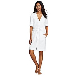 Lands' End - White hooded roll sleeve beach dress