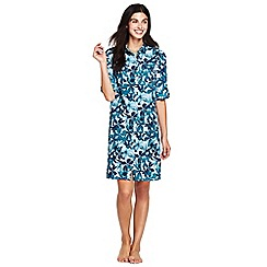 Lands' End - Multi crinkle beach dress