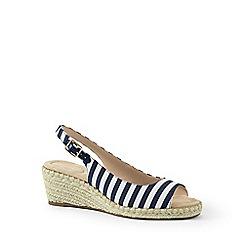 4ef8995e9c8 Lands  End - Blue wide espadrille wedge sandals