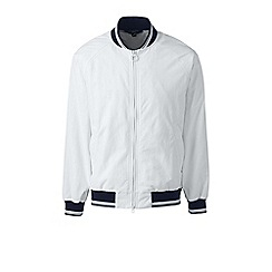 Lands' End - White squall varsity jacket