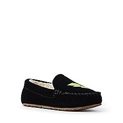 Lands' End - Black embellished moccasin slippers