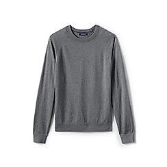 Lands' End - Grey cotton blend crew neck jumper
