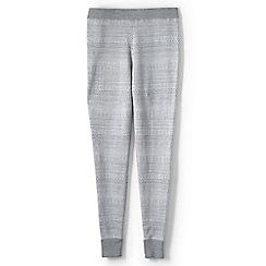 Lands' End - Grey merino wool fair isle leggings