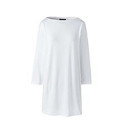 Lands' End - White matte jersey tunic