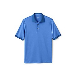 Lands' End - Blue tipped collar supima polo shirt