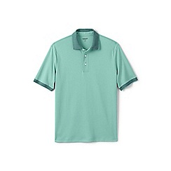 Lands' End - Green tipped collar supima polo shirt
