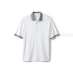 Lands' End - White tipped collar supima polo shirt