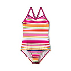 Lands' End - Girls' Multicoloured  smart swim strappy patterned swimsuit
