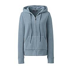 Lands' End - Blue soft leisure velour zip hoodie